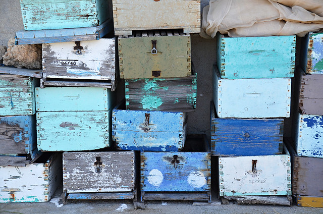 Slow travel, beehives, Crete