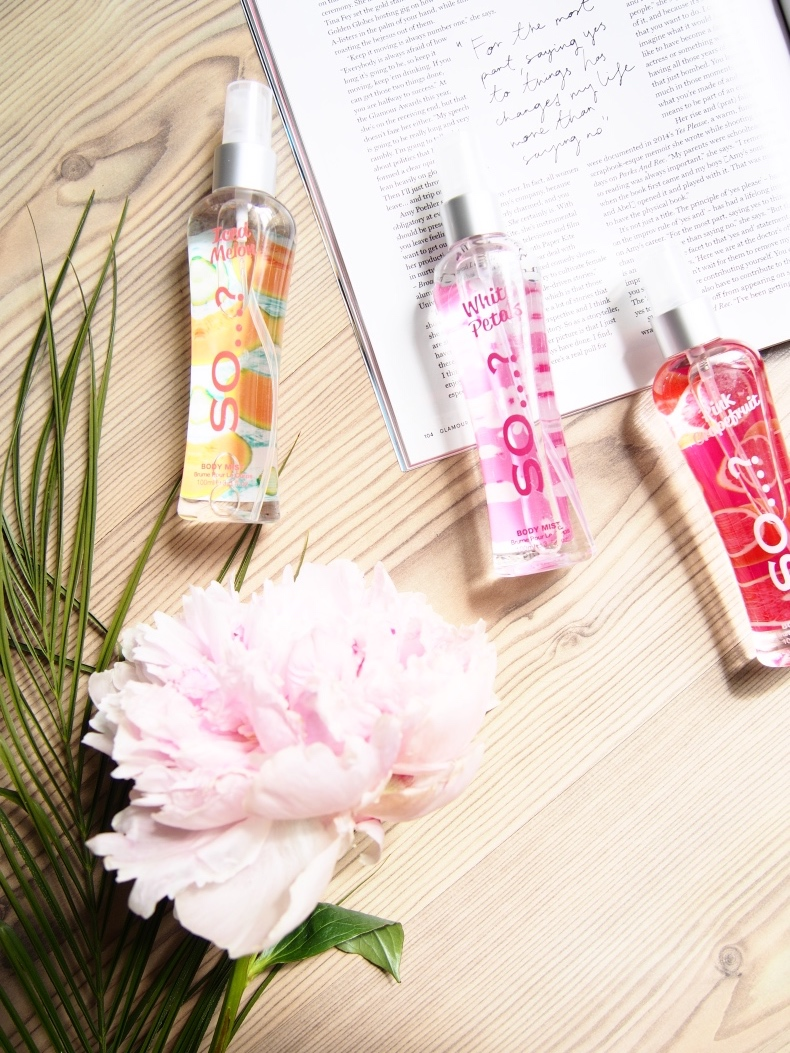 Sweet and fresh body mists for summer