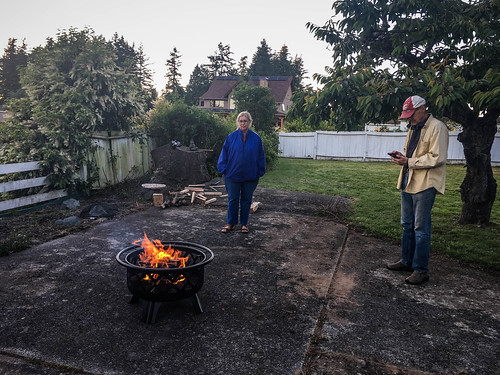 Enjoying the Fire Pit