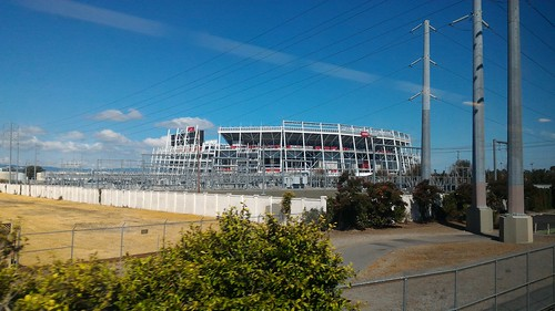 Levi's Stadium - On the train from San Jose to Davis, California