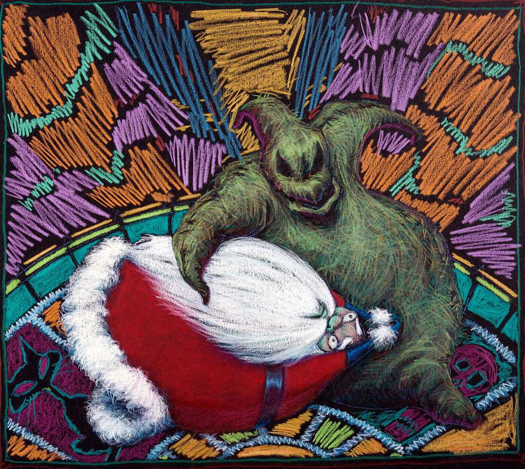 Santa Claus and Oogie Boogie concept art for The Nightmare… | Flickr