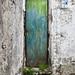 Rusted doorway on pathway from Ravello to Minori, Amalfi Coast, Italy