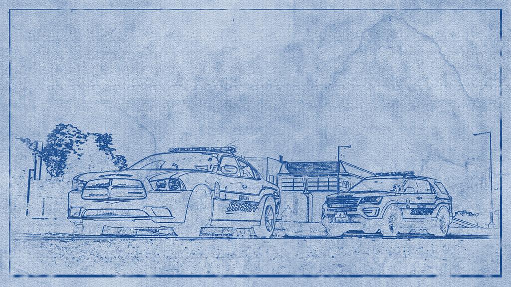 Police car blueprint osajus flickr police car blueprint by osajus police car blueprint by osajus malvernweather Image collections