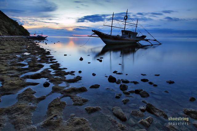 early sunset near Malalison Blue Lagoon Beach Resort