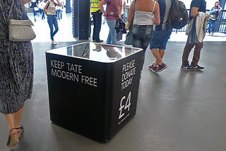 London - Tate Modern donation box