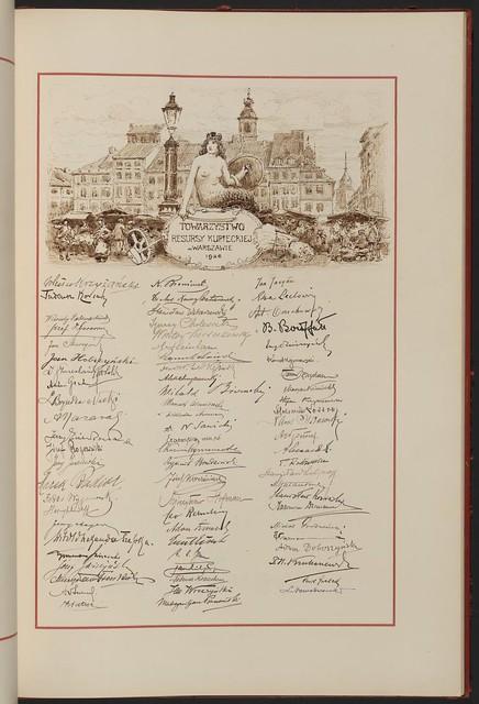 Towarzystwo Resursy Kupieckiej w Warszawie (City Club of the Warsaw Merchants' Association). From Unexpected Treasures at America's Library: Heartfelt Friendship Between Nations