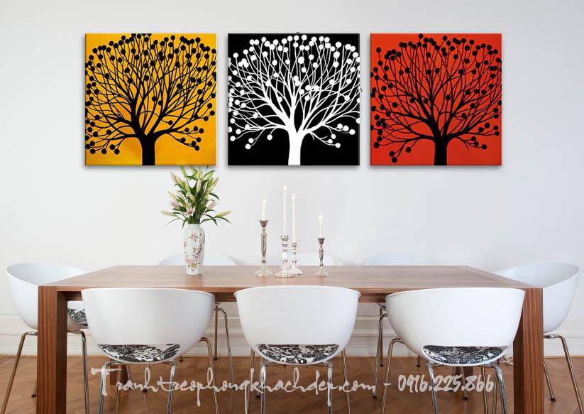 Tranh canvas dep trang tri nha hang quan cafe