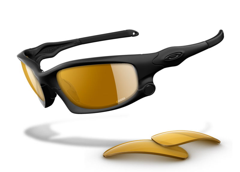 Custom Oakley Split Jacket Sunglasses with Gold Iridium Lenses: GOBBI Special Edition - Stealth Lux