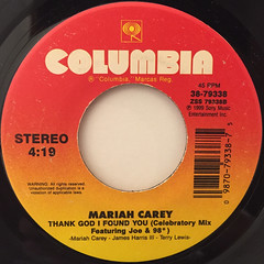 MARIAH CAREY:THANK GOD I FOUND YOU(LABEL SIDE-B)