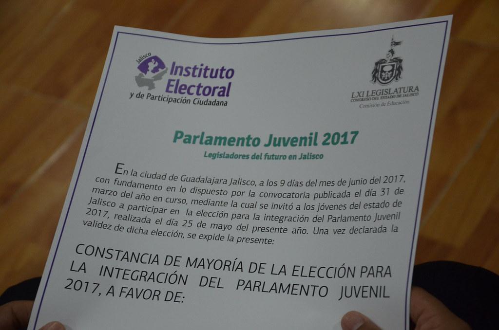 Parlamento Juvenil Jalisco 2017 09 junio 2017