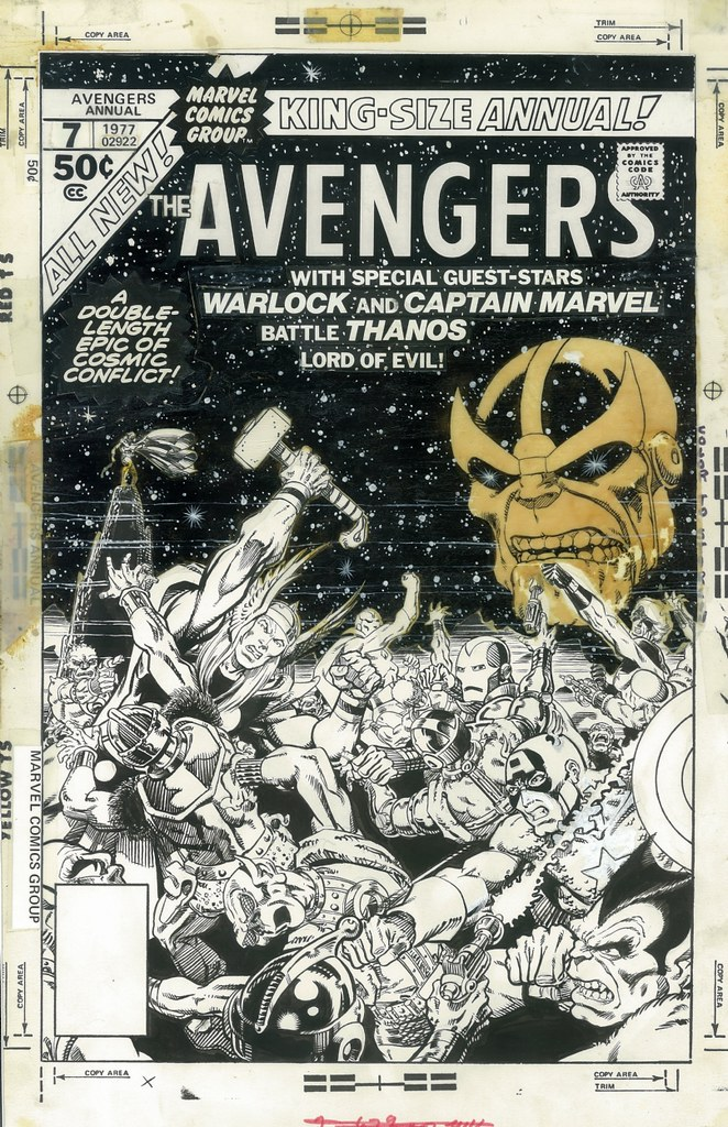 Avengers Annual 7 overlay