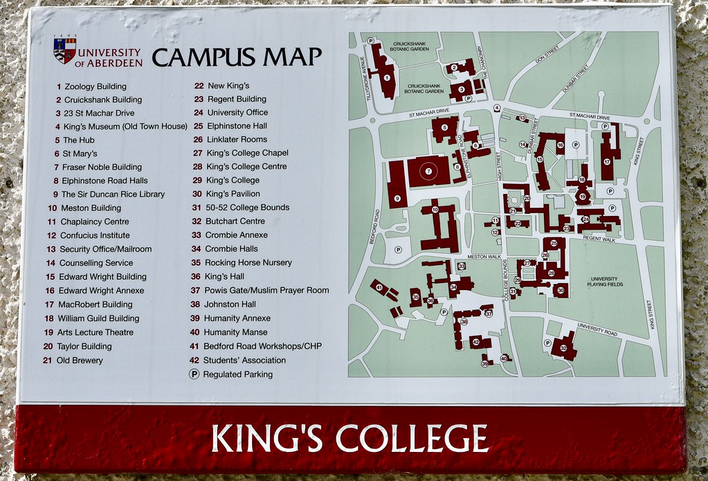 King University Campus Map.Campus Map Aberdeen University Old Aberdeen Scotland 2017 Flickr