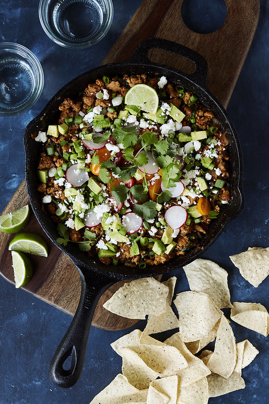 Super Easy Taco Skillet {Gluten-free, Paleo & Whole 30-friendly}