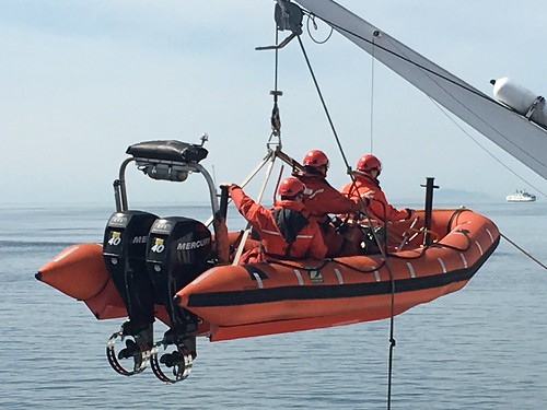Man overboard drill on BC Ferry