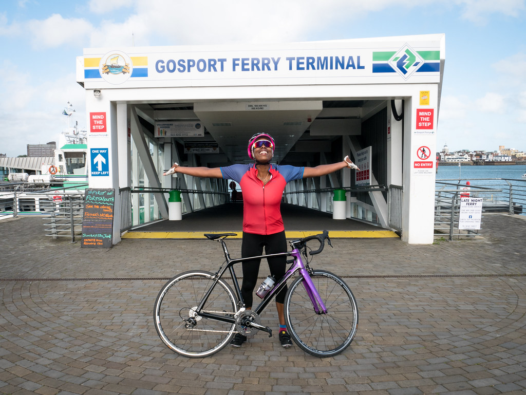 ladyvelo-premierinn-cycling-Gosport-Ferry