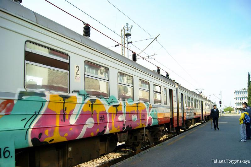 Поезд на станции в Подгорице