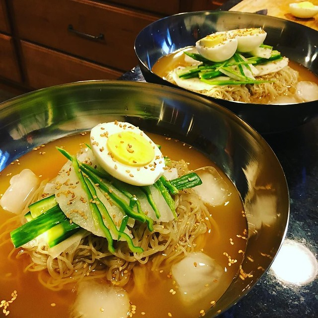 Cold noodle soup. #Naengmyun #mulnaengmyeon @jenmac1818