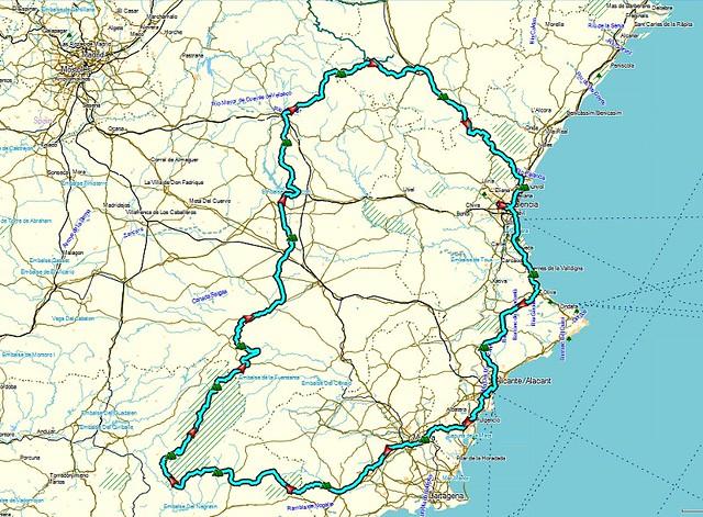 fietsroute Spanje