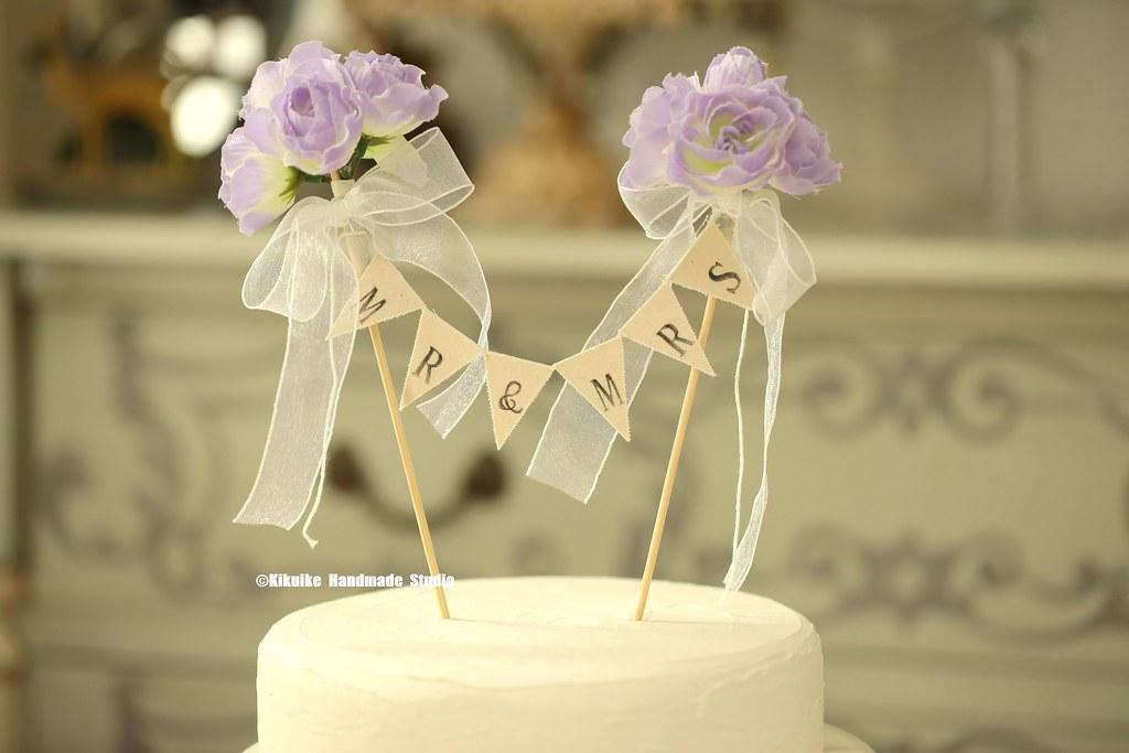 Mr & Mrs Wedding Cake Banner,Flower Cake bunting,Rustic We… | Flickr