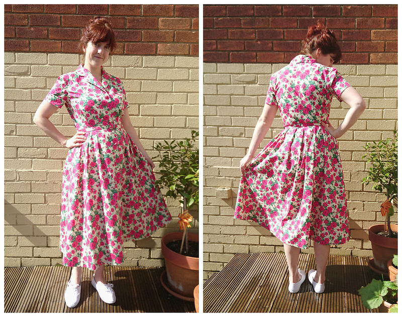 Vintage shirtdress in liberty fabric