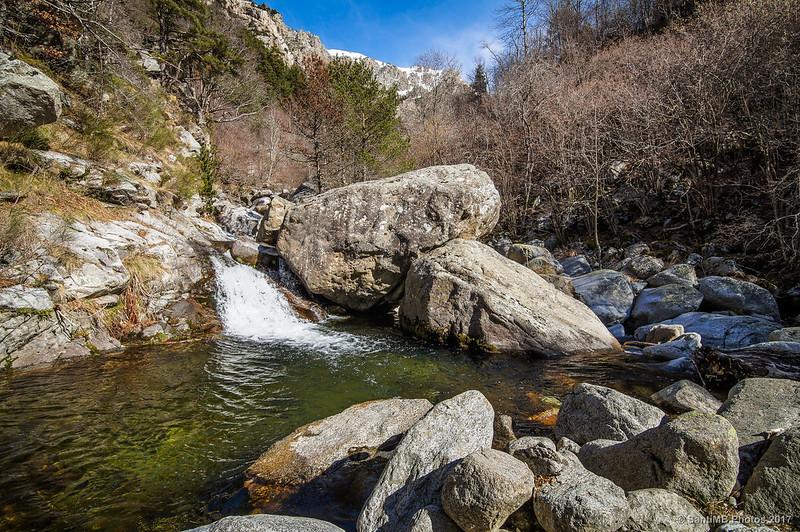 Una poza del río Freser cerca del Pont de les Ribes