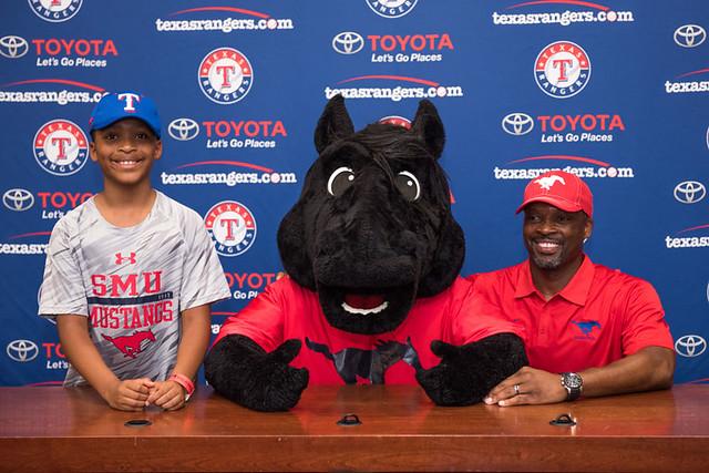 SMU Day at TX Rangers