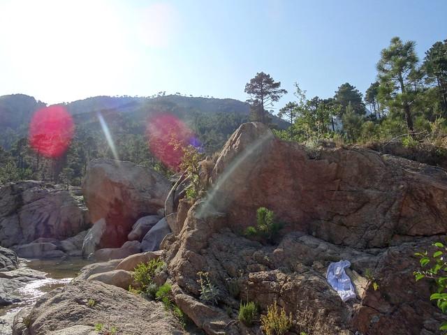 La crête de Pinetu Pianu depuis le pont de Figa