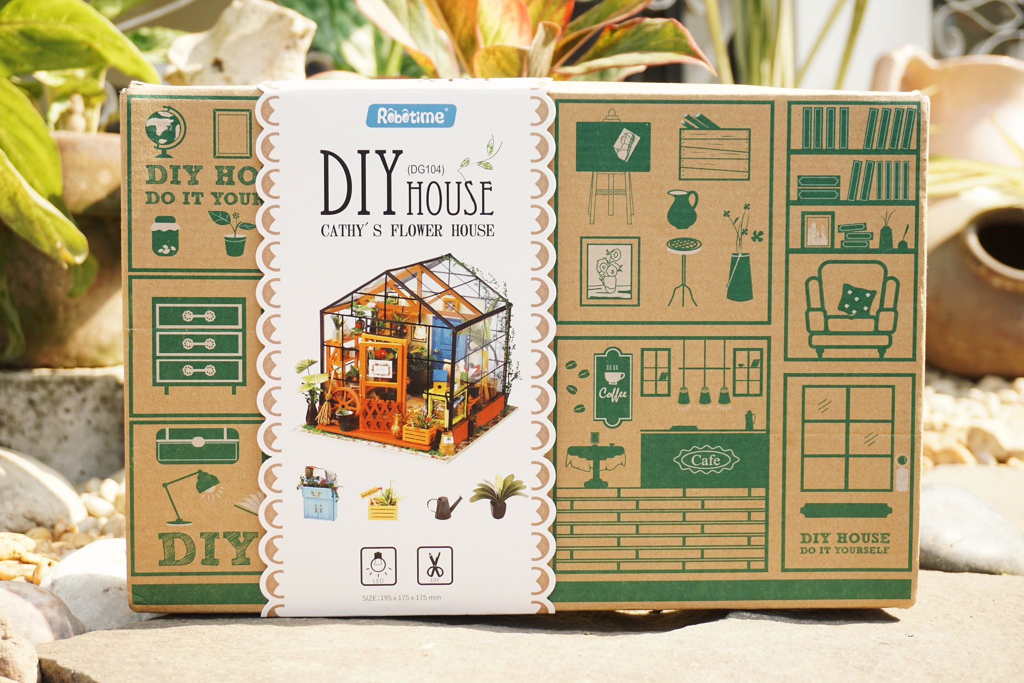 Diy dollhouse kit miniature greenhouse cathys flower house 2017 06 16 030101 1 1 solutioingenieria Image collections