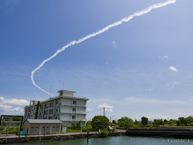 Blue Impulse's rehearsal flight for the 410th anniv. of Hikone Castle (47)