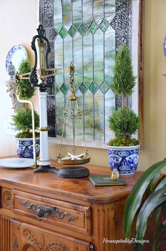 French Buffet-Foyer-Blue and White-Housepitality Designs