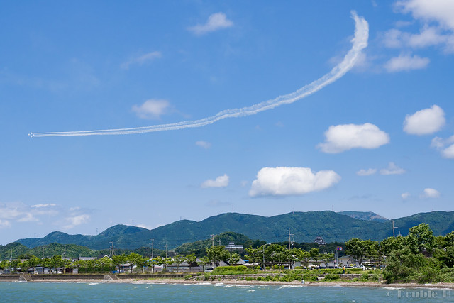 Blue Impulse's rehearsal flight for the 410th anniv. of Hikone Castle (26) Diamond 360 Turn
