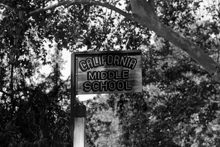 California Middle School Sign | by Scott Micciche