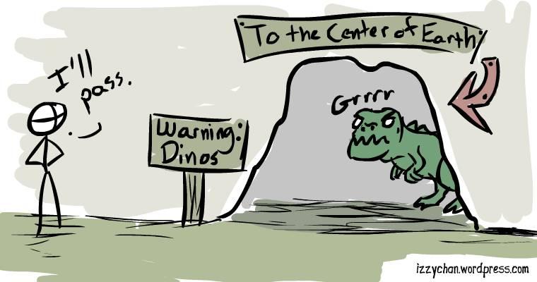 warning dinosaurs
