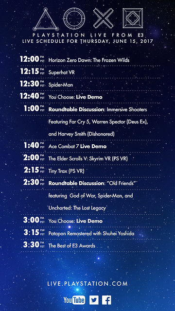 PlayStation Live From E3: Thursday Schedule