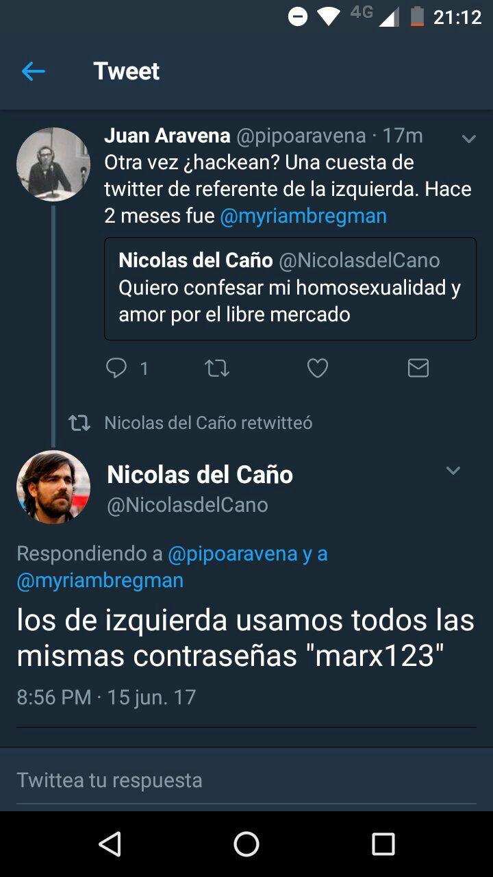 Hackeo a Nicolás Del Caño