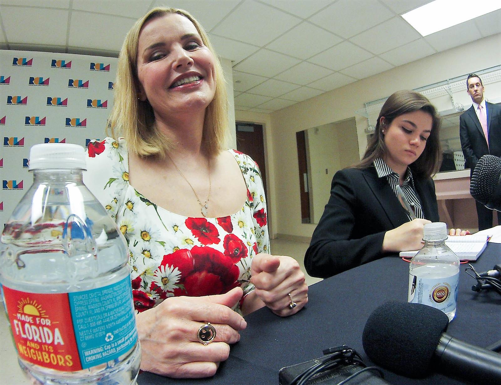 Academy Award Winner Geena Davis Met with Media Prior to Her Lectures in Sarasota, Fla., Feb. 13, 2017.