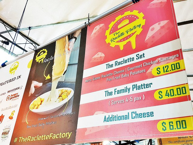 The Raclette Factory Menu