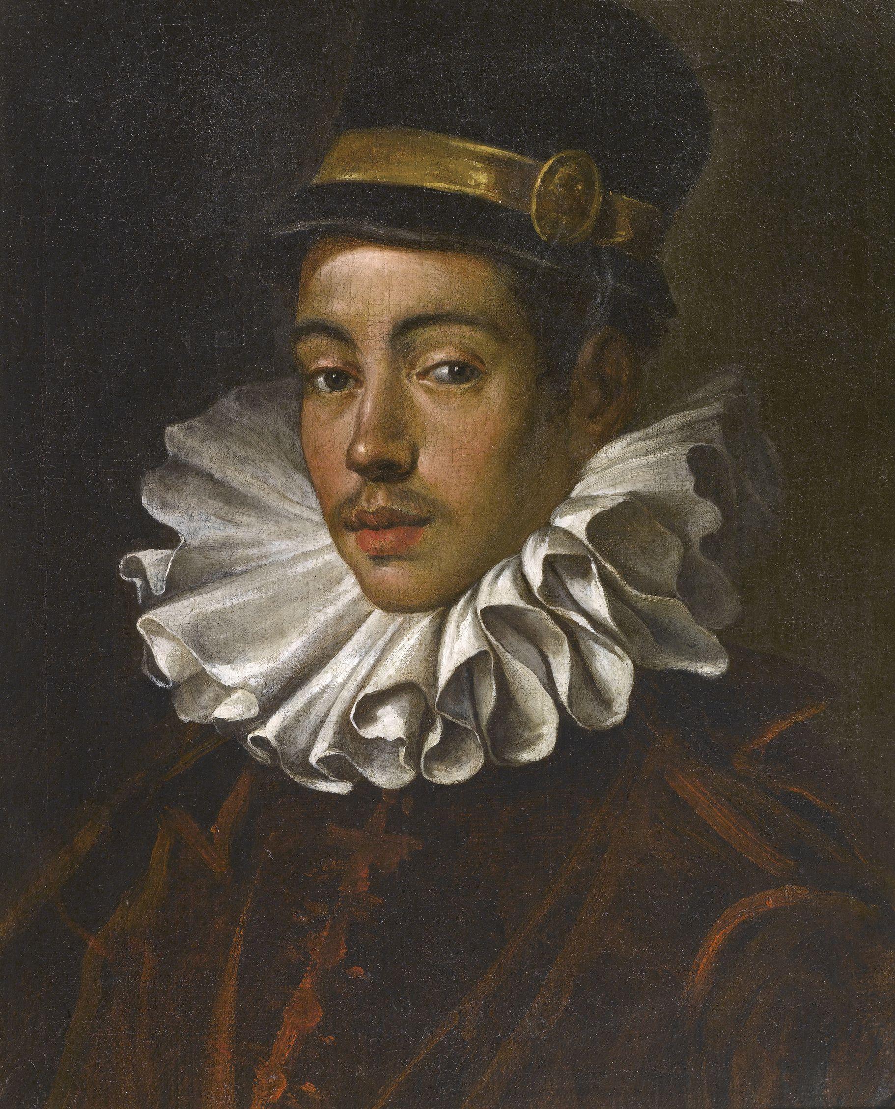 ドメニコ・ティントレットの《伊東マンショの肖像》(1585年、トリヴルツィオ財団)