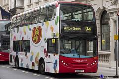 Alexander Dennis Enviro400 - SN60 BYH - ADH12 - Jelly Belly - London United RATP Group - Acton Green 94 - London 2017 - Steven Gray - IMG_9049