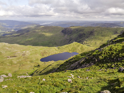 Looking past Codale Tarn to Blea Rigg