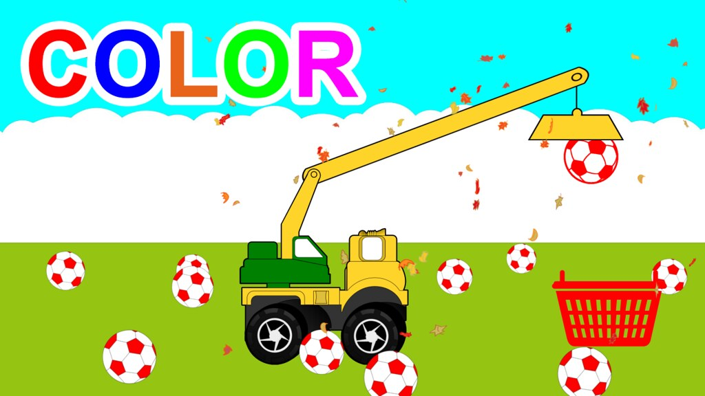 learn-colors-for-kids-with-basket-soccer-balls-in-invisibl ...