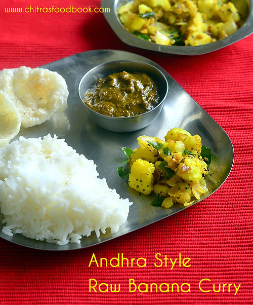 Andhra plantain curry