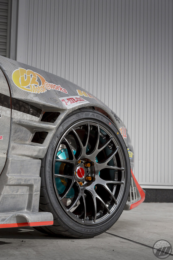 B West Nissan 180sx On Work Emotion M8r F 18x9 5j 12mm