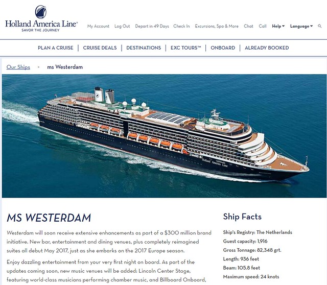 westerdam web info