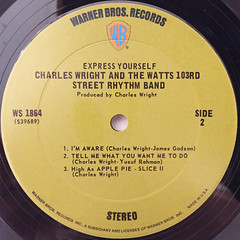 CHARLES WRIGHT & THE WATTS 103RD STREET RHYTHM BAND:EXPRESS YOURSELF(LABEL SIDE-B)
