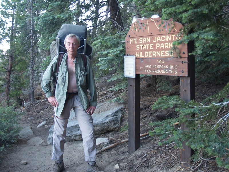 Picture of me as the Marion Mountain Trail enters the Mt. San Jacinto State Pak Wilderness