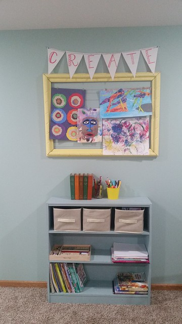 Our Creativity Corner- Art Supplies and Gallery