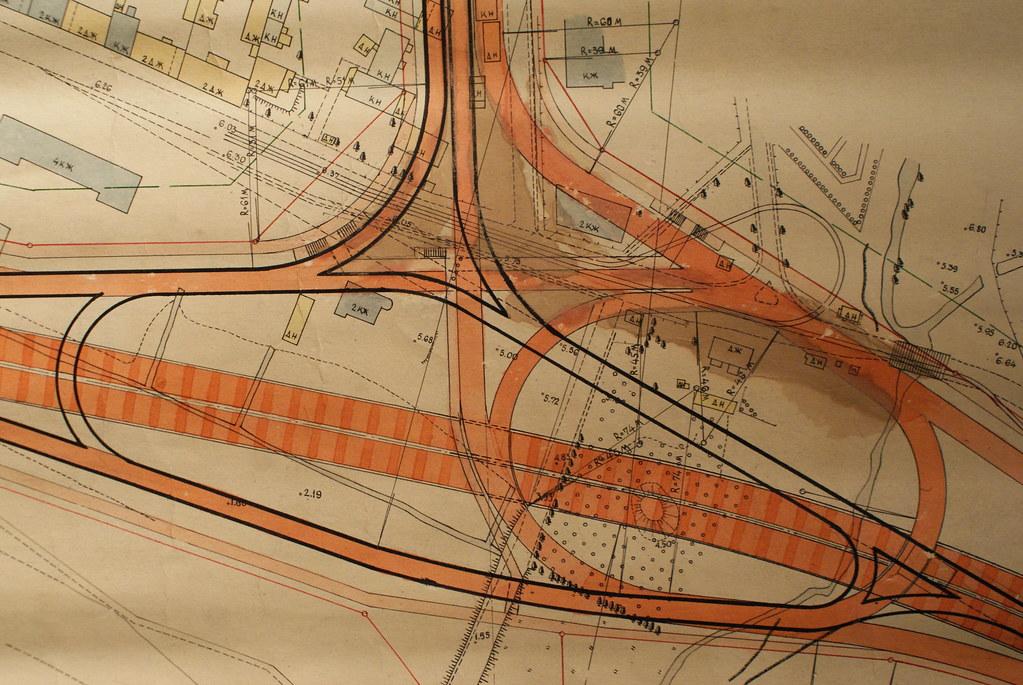 Plan d'aménagement urbain au Musée d'architecture de Riga en Lettonie.