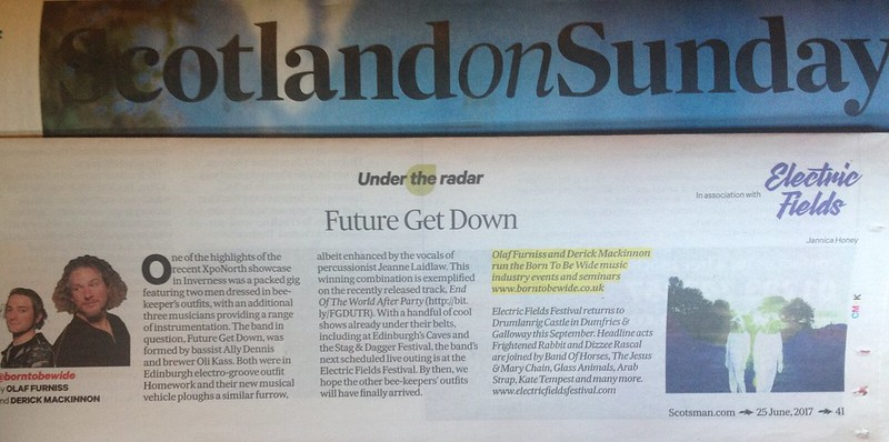Scotland On Sunday, 25 June 2017, Future Get Down