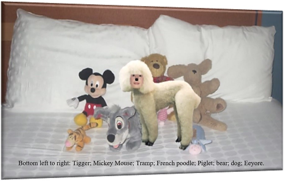 Stuffed Toy Animals Eight Stuffed Toy Animals On A Bed Bo Flickr